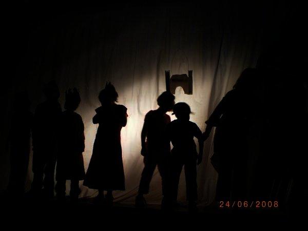 Schattentheater in der Bürgerstraße