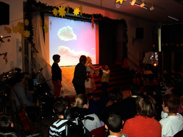 Die Nikolausfeier 2009 - mit dem Weihnachtsengel Carina