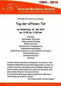 Einladung Tag der Offenen Tür am 22. Mai 2014