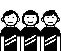 3 Menschen - eine Versammlung