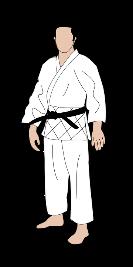 Ein Judoka im weißen Judoanzug