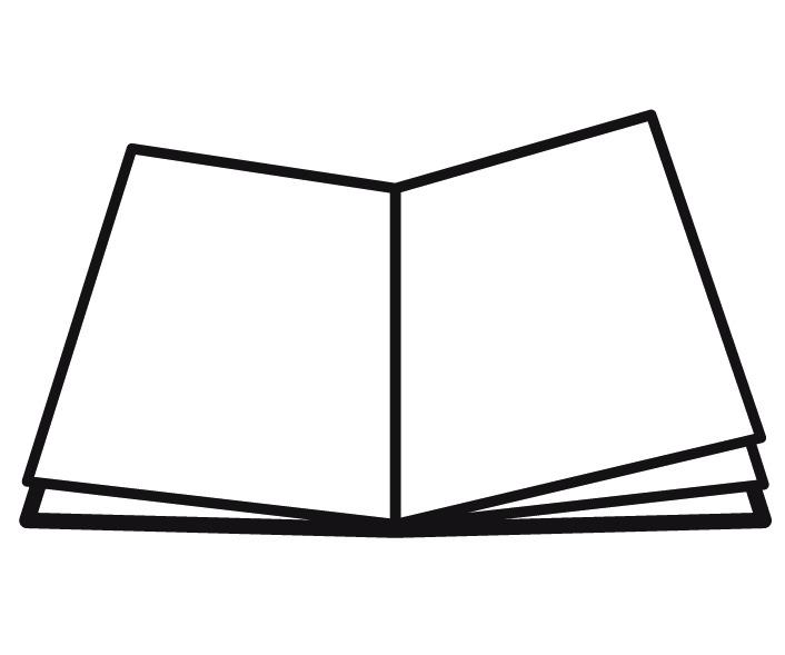 Pictogramm eines aufgeschlagenen Buches