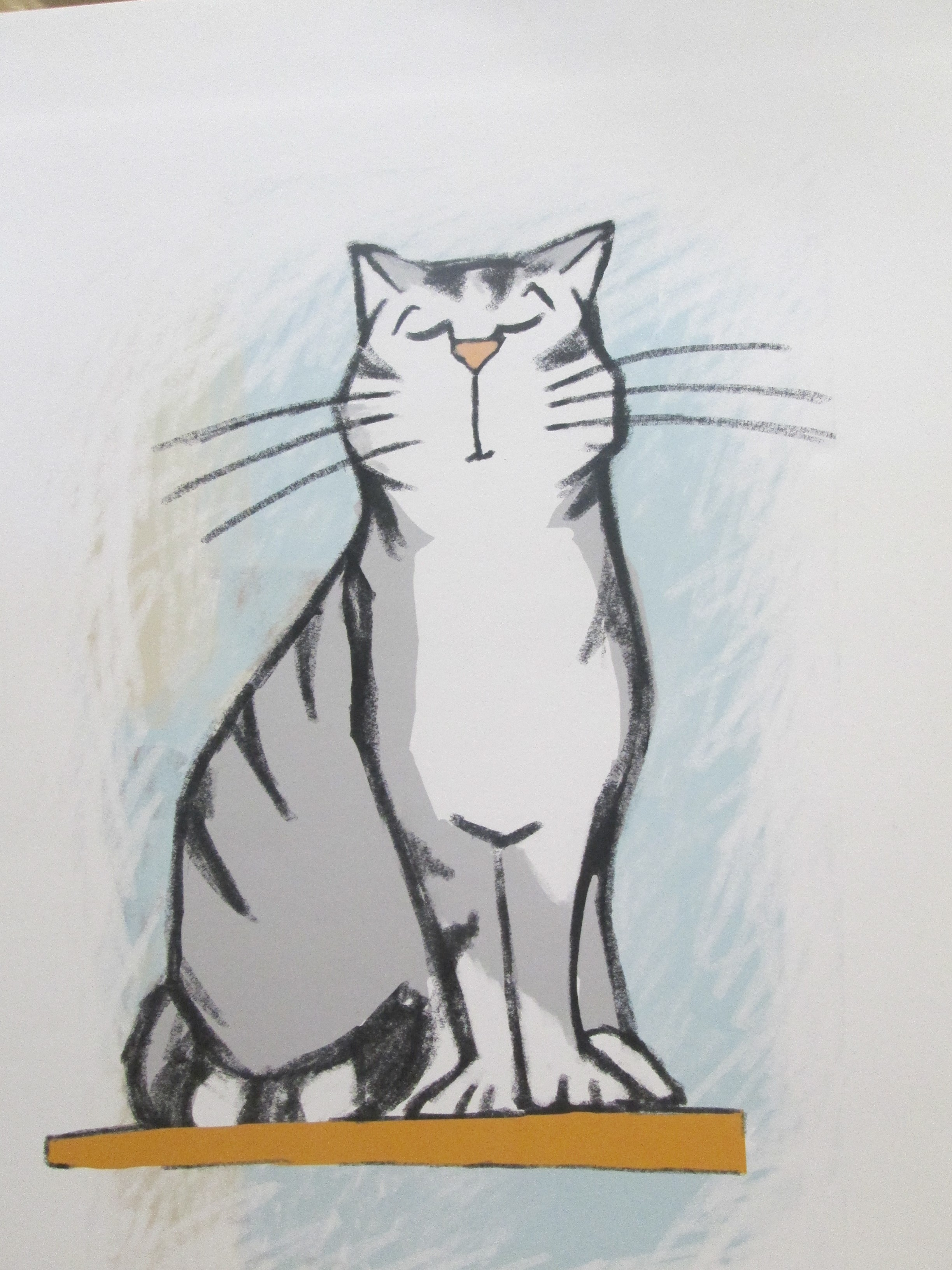 Zeichnung einer sitzenden Katze