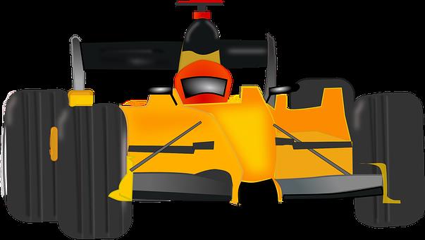 Formel-1-Rennwagen von vorne